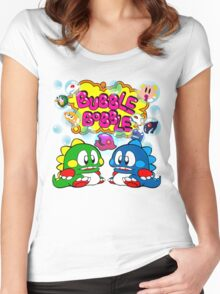 Bubble Bobble Retro Women's Fitted Scoop T-Shirt