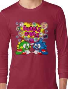 Bubble Bobble Retro Long Sleeve T-Shirt