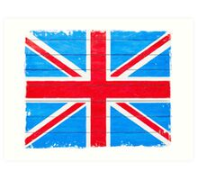 Vintage British Union Jack Flag Art Print