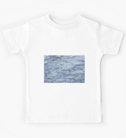 Blue Water Background - Art of Color and Bliss Beauty Kids Tee