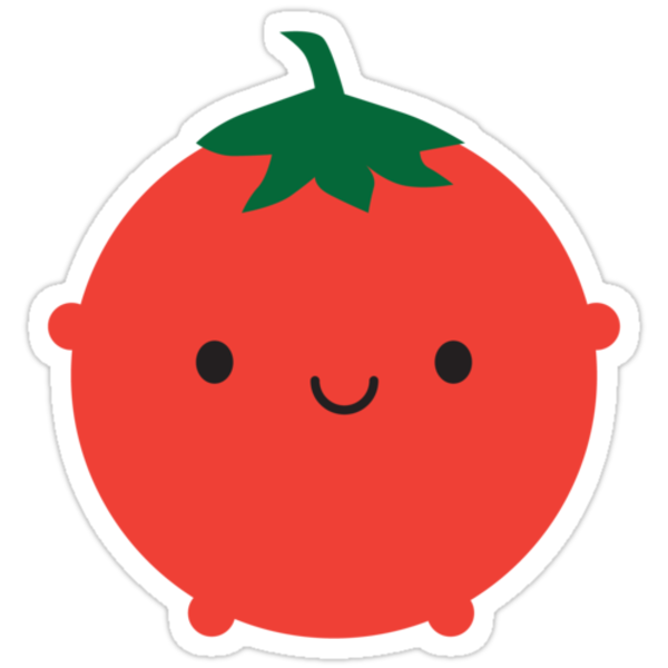 """""""Kawaii Tomato"""" Stickers by Marceline Smith 