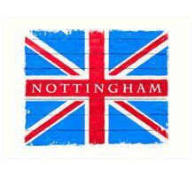 Nottingham Union Jack Vintage Flag Art Print