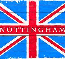 Nottingham Union Jack Vintage Flag by Mark Tisdale