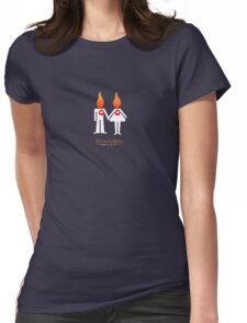 Flammables blanc Womens Fitted T-Shirt