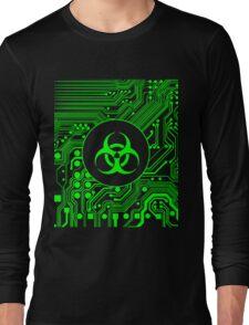 Green Biohazard (Cybergoth) Long Sleeve T-Shirt
