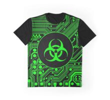 Green Biohazard (Cybergoth) Graphic T-Shirt