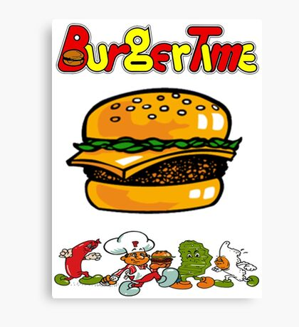 Burger Time Retro  Canvas Print