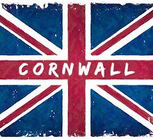 Cornwall Vintage Union Jack British Flag by Mark Tisdale