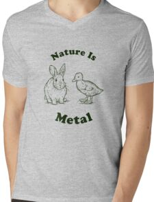 Nature Is Metal Mens V-Neck T-Shirt