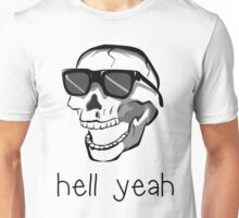 Spooky Scary On White Unisex T-Shirt