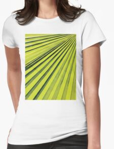 Green Palm Frond Womens Fitted T-Shirt