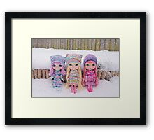 Blythes in the snow Framed Print