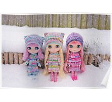 Blythes in the snow Poster