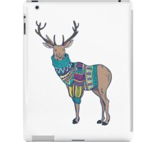 Deer in knitted sweater iPad Case/Skin