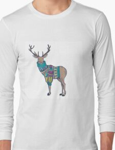 Deer in knitted sweater Long Sleeve T-Shirt