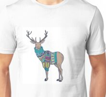Deer in knitted sweater Unisex T-Shirt