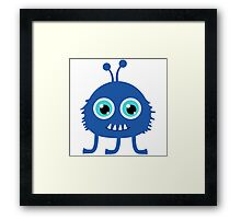 Cute and funny cartoon monster Framed Print