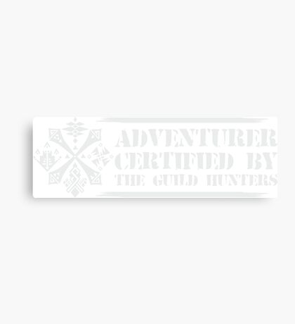 Certified By The Guild of Hunters HORIZONTAL WHITE Canvas Print