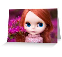 Friendly Freckles in the Fuschia  Greeting Card