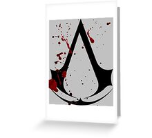 Assassins creed logo with gore! Greeting Card