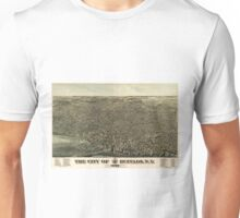 Vintage Pictorial Map of Buffalo New York (1880) Unisex T-Shirt
