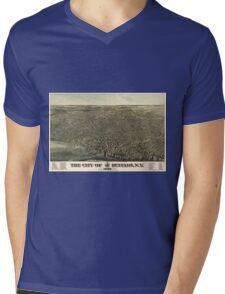 Vintage Pictorial Map of Buffalo New York (1880) Mens V-Neck T-Shirt