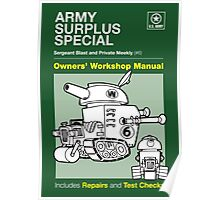 Owners' Manual - Army Surplus Special - Poster & stickers Poster