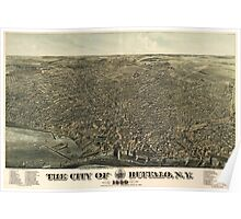 Vintage Pictorial Map of Buffalo New York (1880) Poster