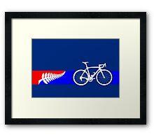 Bike Stripes New Zealand Framed Print