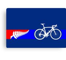 Bike Stripes New Zealand Canvas Print