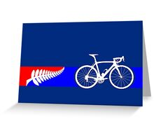 Bike Stripes New Zealand Greeting Card
