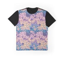 Floral pattern with bumblebees and flowers of orange Graphic T-Shirt