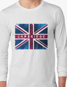 Cambridge Union Jack British Flag Long Sleeve T-Shirt