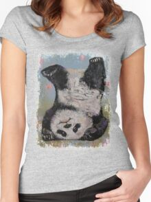 Panda Headstand Women's Fitted Scoop T-Shirt