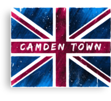 Camden Town Union Jack British Flag Canvas Print
