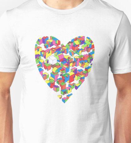 New Town #2 (Colour/Heart) Unisex T-Shirt