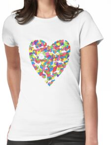 New Town #2 (Colour/Heart) Womens Fitted T-Shirt