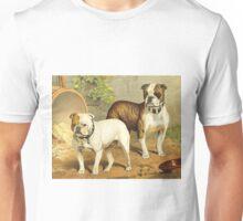 Vintage Painting of English Bulldogs Unisex T-Shirt