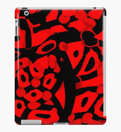 Red abstract design iPad Case/Skin