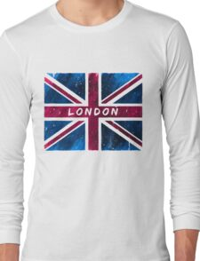 London British Union Jack Flag Long Sleeve T-Shirt