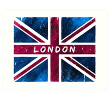 London British Union Jack Flag Art Print