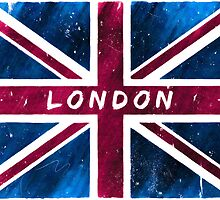 London British Union Jack Flag by Mark Tisdale