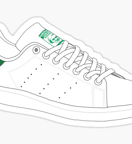 stan smith illustration 3 colors. Sticker