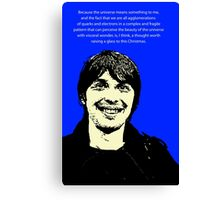 Brian Cox Christmas Canvas Print