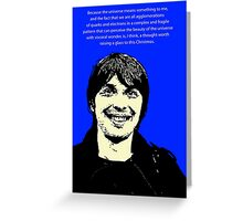 Brian Cox Christmas Greeting Card