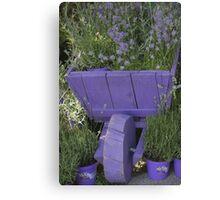 wheelbarrow with lavender Canvas Print