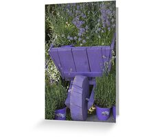 wheelbarrow with lavender Greeting Card