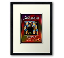 George Leutz Q*Bert Rookie Card Framed Print