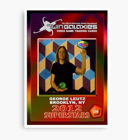 George Leutz Q*Bert Rookie Card Canvas Print