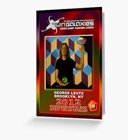 George Leutz Q*Bert Rookie Card Greeting Card